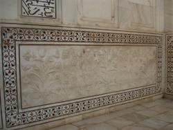Agra - Taj Mahal mausolée détail