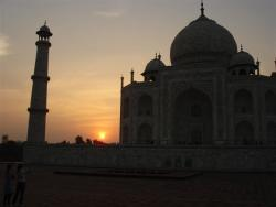 Agra - Taj Mahal soleil couchant