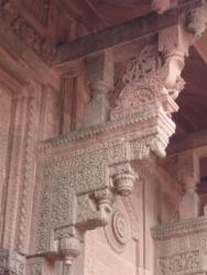 Fort rouge - cour intérieure détail