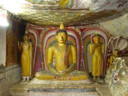 Dambulla - Bouddha dans la position du lotus