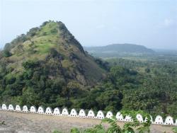 Dambulla - vue de la terrasse