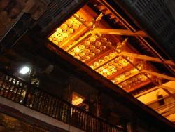 Kandy - temple plafond avec lotus d`or