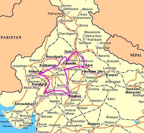 Rajasthan itinéraire 2007